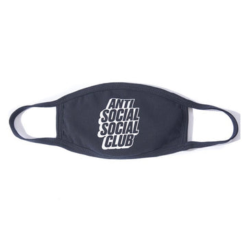Anti Social Social Club Blocked Logo Mask Black