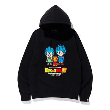 BAPE x Dragonball Super Son Goku & Vegeta Hoodie Black