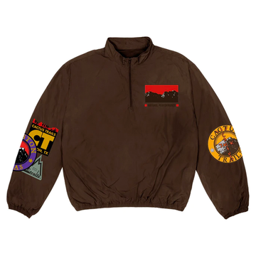 Travis Scott Cactus Trails Half-Zip Windbreaker Brown