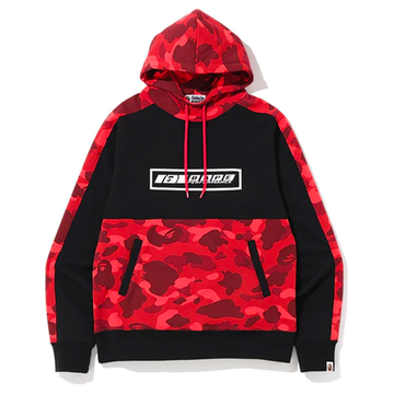BAPE Color Camo Pullover Hoodie (FW19) Red