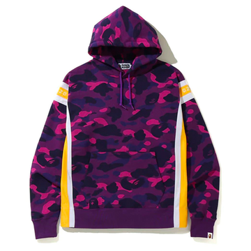 BAPE Color Camo Logo Tape Pullover Hoodie Purple