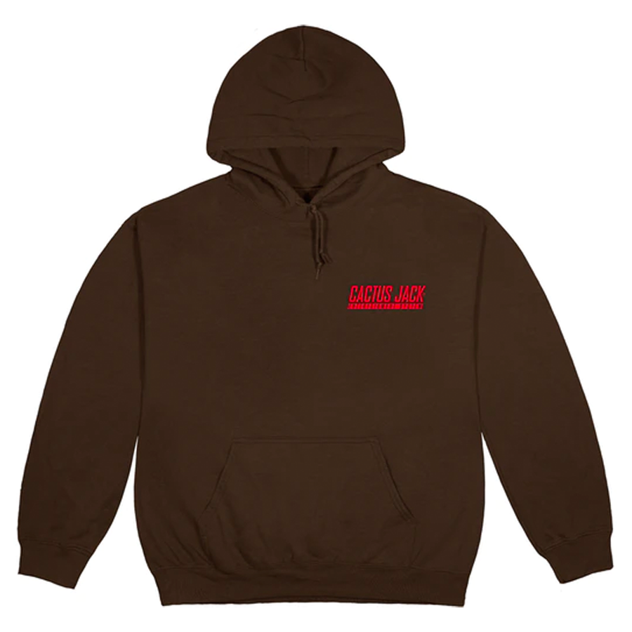 Travis Scott CJ Logo Hoodie Brown