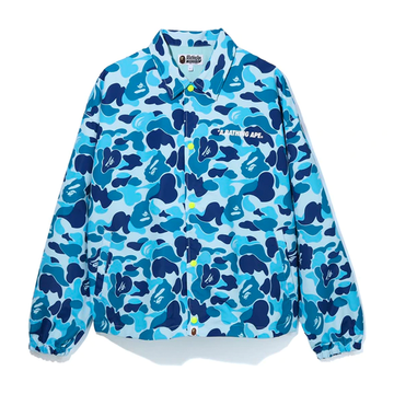 BAPE ABC Camo Relaxed Coach Jacket Blue