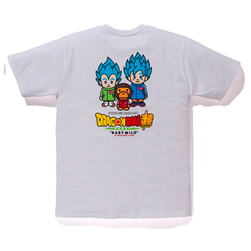 BAPE x Dragonball Super Son Goku & Vegeta Tee White