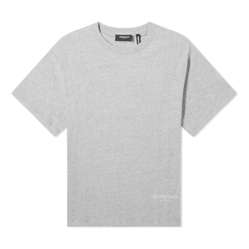 FEAR OF GOD ESSENTIALS 3M Logo Boxy T-Shirt Dark Heather Grey/Black