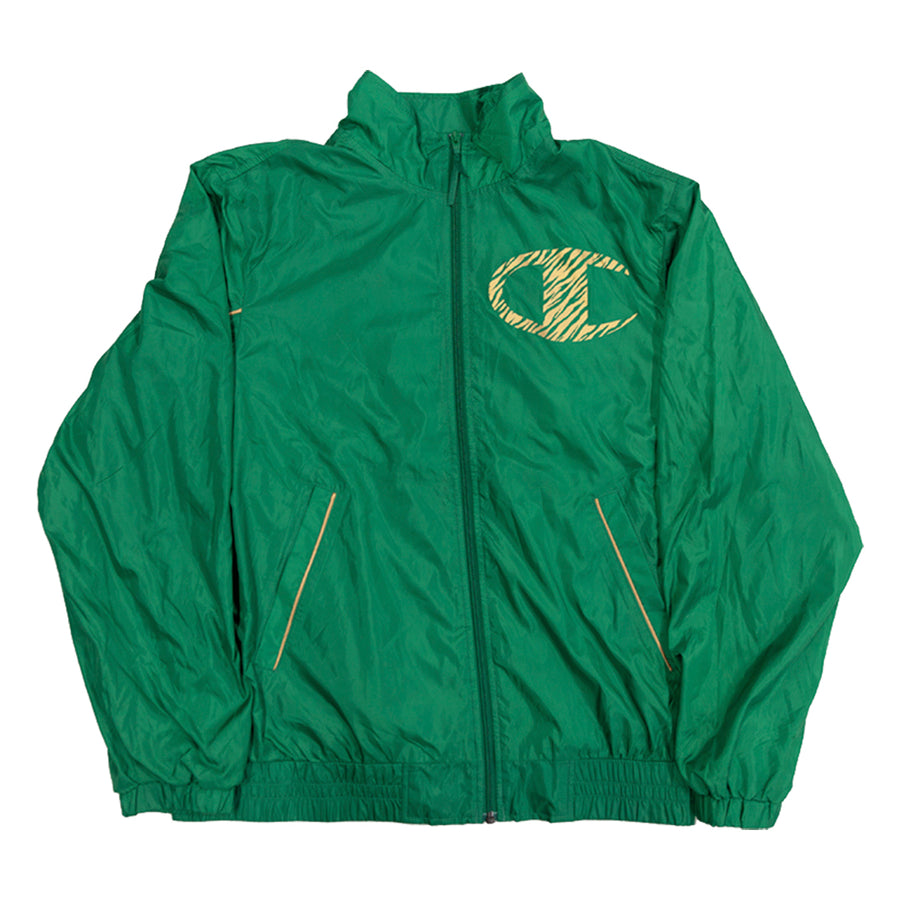 Supreme x Champion Track Jacket Leopard Green