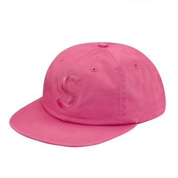 Supreme Tonal S Logo 6-Panel Hat Bright Rose
