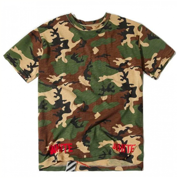 Off-White Camouflage Diagonal Tee