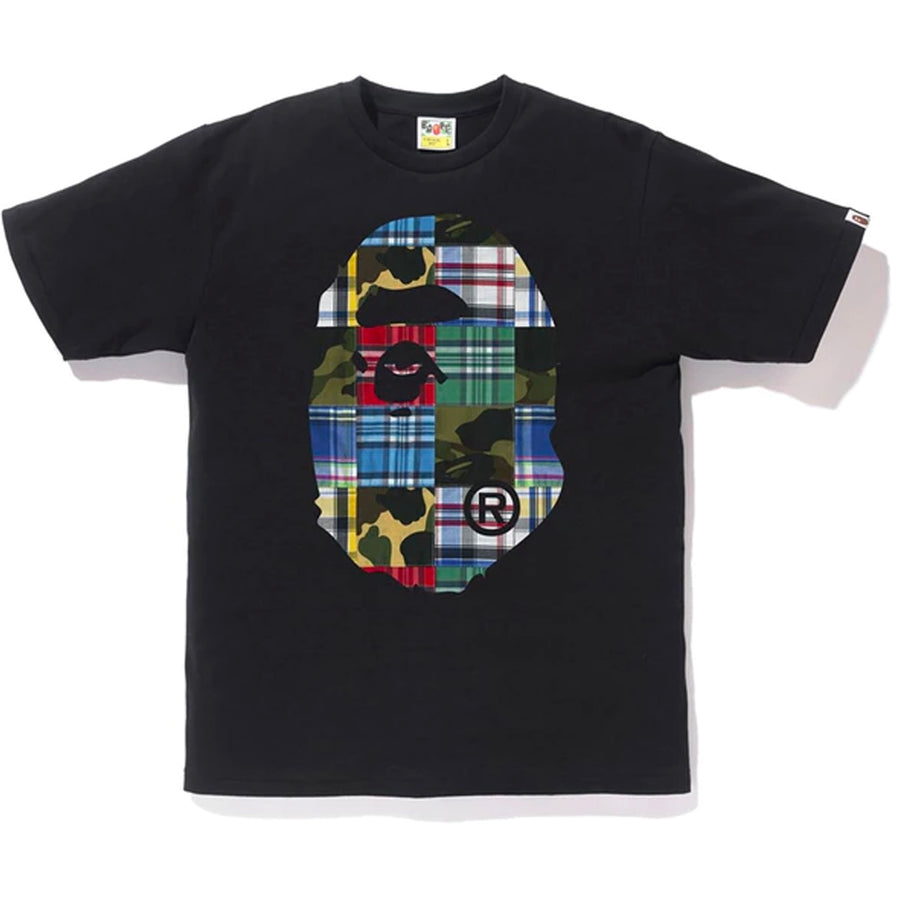 Patchwork Big Ape Head Tee Black