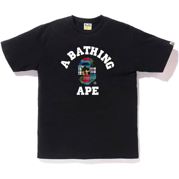 BAPE Patchwork College Tee Black