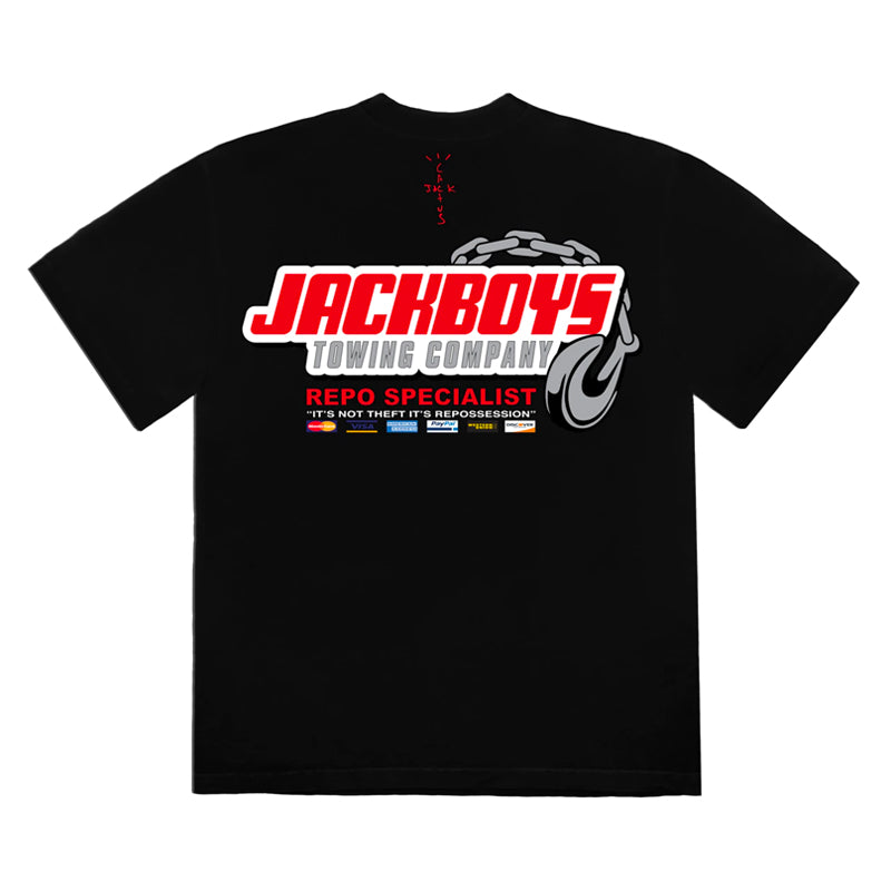 Travis Scott JACKBOYS Repo T-Shirt Black