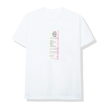 Anti Social Social Club Read Receipts Tee White
