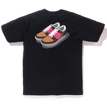 BAPE Bapesta Color Tee Black/Brown