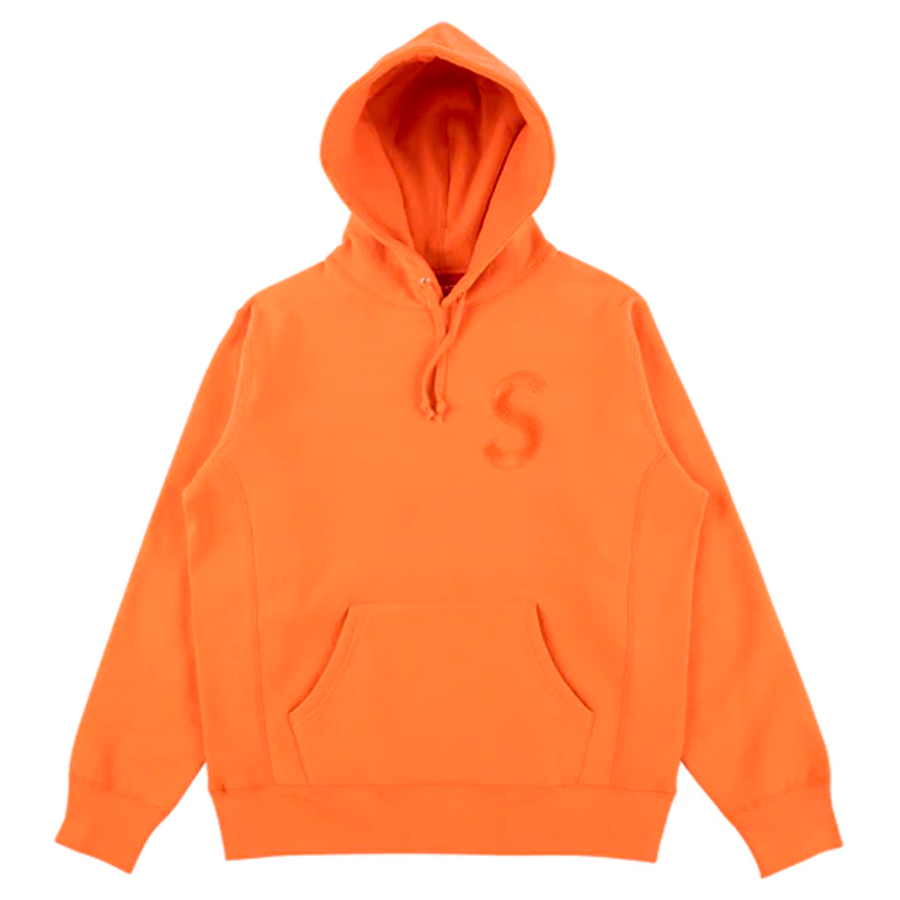 Supreme Tonal S Logo Hoodie Bright Orange (Used)