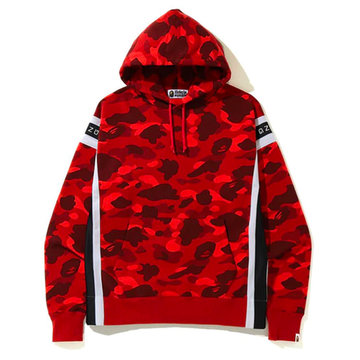 BAPE Color Camo Logo Tape Pullover Hoodie Red