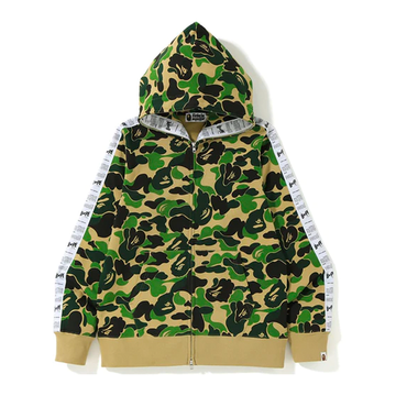 BAPE ABC Bapesta Tape Full Zip Hoodie Green