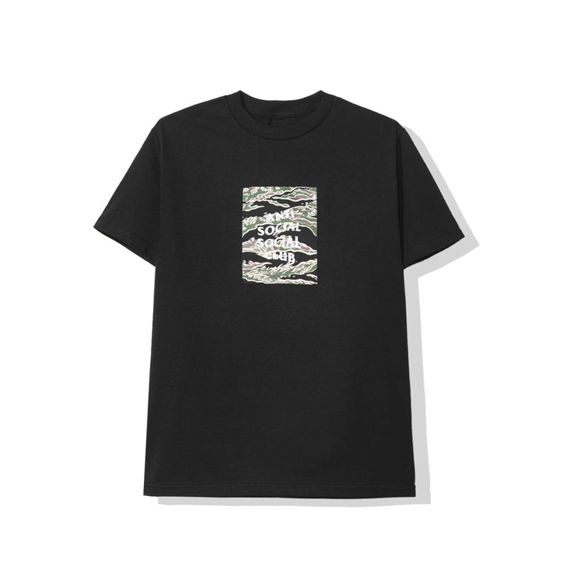 ASSC Tiger Camo Box Logo Tee Black