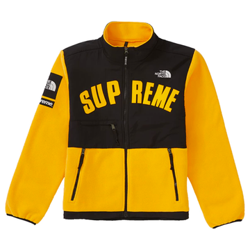 Supreme x The North Face Arc Logo Denali Fleece Jacket Yellow