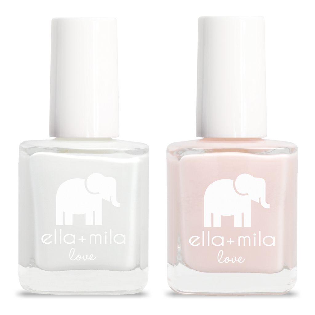 "Vegan ""7 Free"" Nail Polish by Ella+Mila ""French Mani"" 2Pk"