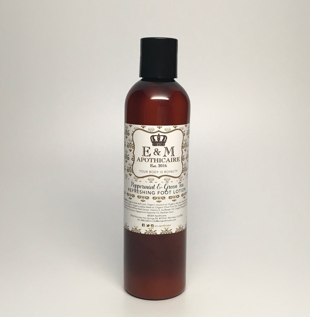 Peppermint and Green Tea Foot Lotion