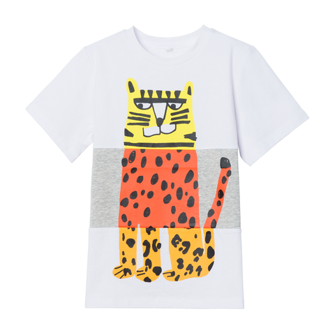 Stella McCartney SS21 - Tee Colorblock Tiger Print