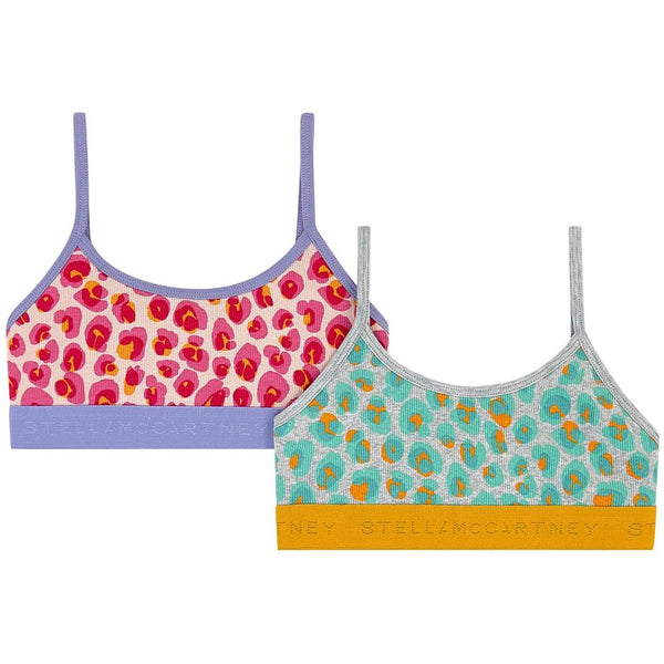 Stella McCartney SS20- Animal Spots Rib Bra Set