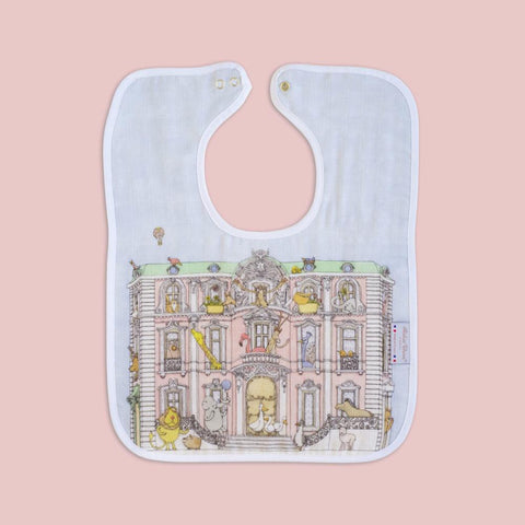 Atelier Choux - Large Bib - Monceau Mansion - Gold Snaps