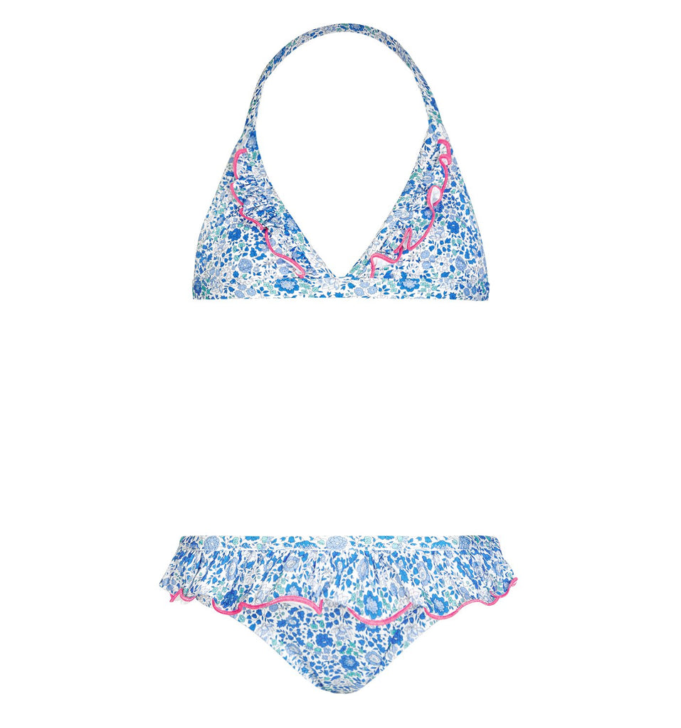 Sunuva - Girls Liberty Triangle Bikini in Blue