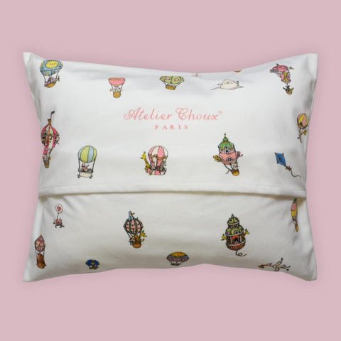Atelier Choux - Velour Cushion - Hot Air Balloon