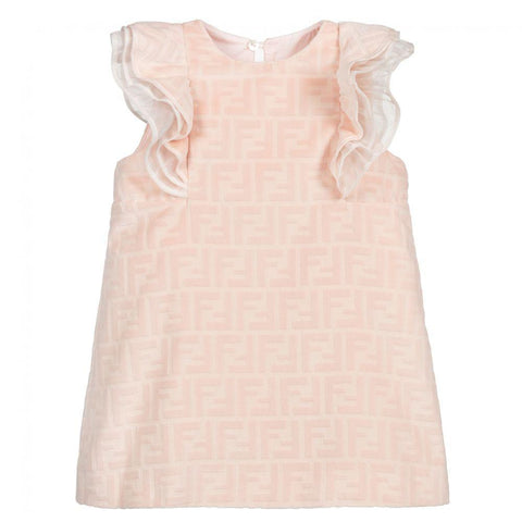 Fendi AW20 - Baby Dress with Ruffle Sleeves