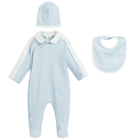 Fendi AW20 - Blue Cotton Babygrow Gift Set