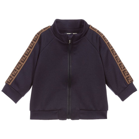 Fendi SS20- Navy FF Tape Baby Sweater