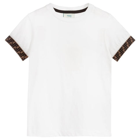 Fendi SS20- White Jersey T-Shirt