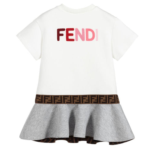 Fendi AW20 - Logo Print Baby Dress