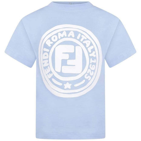 Fendi AW20 - Blue Cotton Logo Baby T-shirt