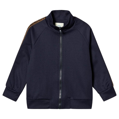 Fendi SS20- Navy FF Logo Tape Sweatshirt
