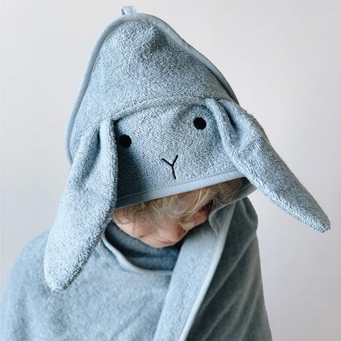 Liewood - Rabbit Dusty Mint Albert Hooded Towel