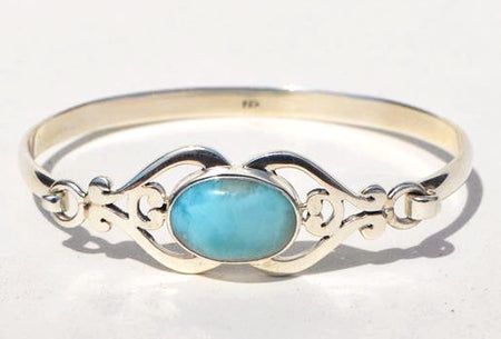 Larimar and Silver Bracelet - Bali Thai Imports
