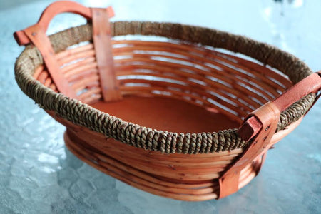 Handmade Oval Wicker Basket