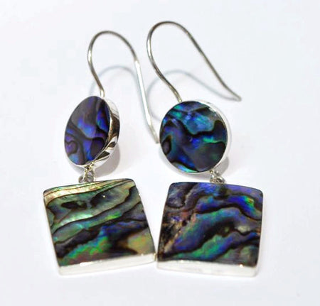 Abalone and Silver Earings - Bali Thai Imports