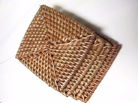 Set of 4 Rattan Coasters (LIGHT) - Bali Thai Imports