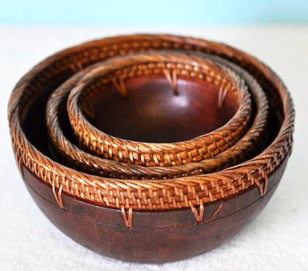 Handmade Wood Bowl Set - Bali Thai Imports