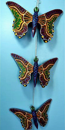 3 Piece Wood Butterfly Set - Bali Thai Imports