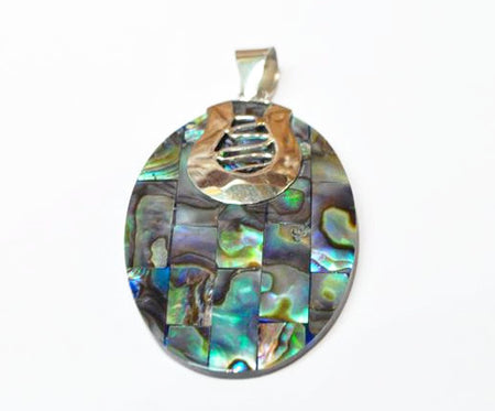 PENDANT- HANDMADE ABALONE/ STERLING SILVER .925 - Bali Thai Imports