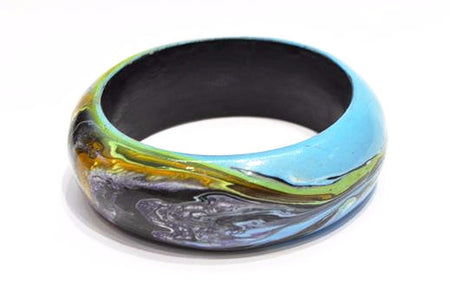 Handmade Wood Painted Bangle - Bali Thai Imports