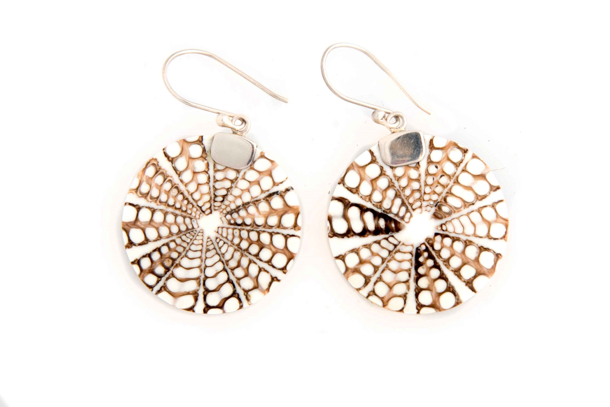 Circle Spider Web Earrings