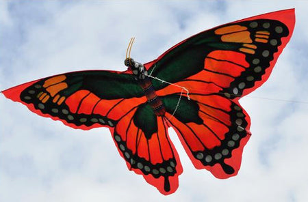 Butterfly Kite with 6 FT Wingspan Red - Bali Thai Imports