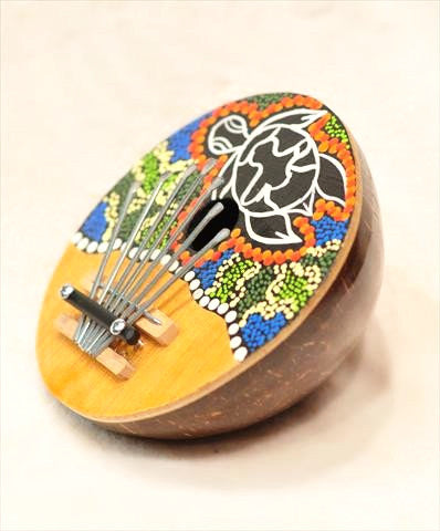 Coconut Carved Painted Karimba - Bali Thai Imports
