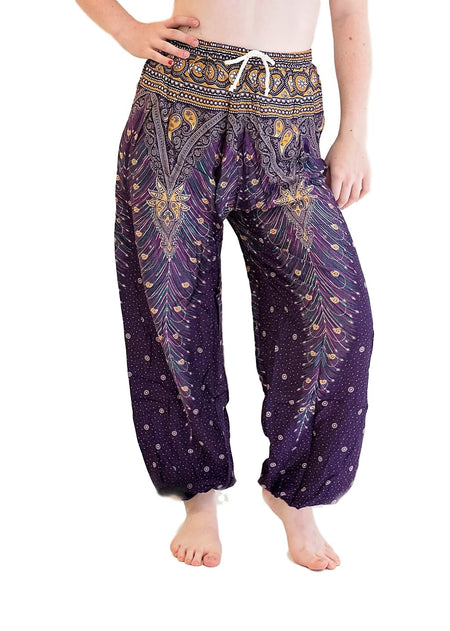 Dark Blue Peacock Harem Pants