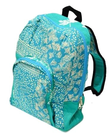 BATIK BACKPACK IN TURQUOISE